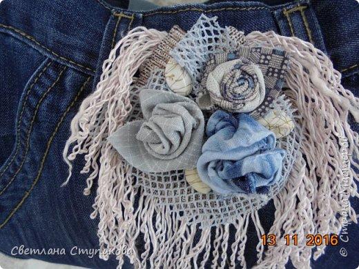 Представляю Вашему вниманию переделку  джинсов  в две сумочки. фото 13