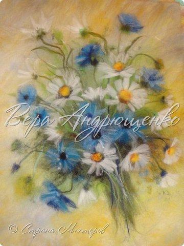 Цветы из шерсти. фото 1