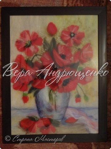 Цветы из шерсти. фото 3