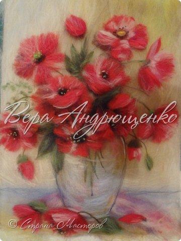Цветы из шерсти. фото 2