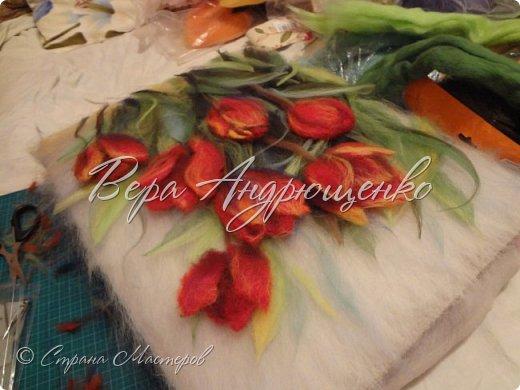 Тюльпаны.Шерстяная акварель фото 4