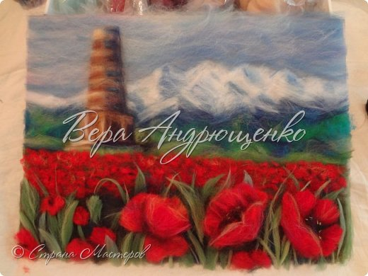 Башня Бурана - памятник архитектуры. Находится в Кыргызстане близ г.Токмак, у подножья гор. Весной там такая красотища!  фото 1