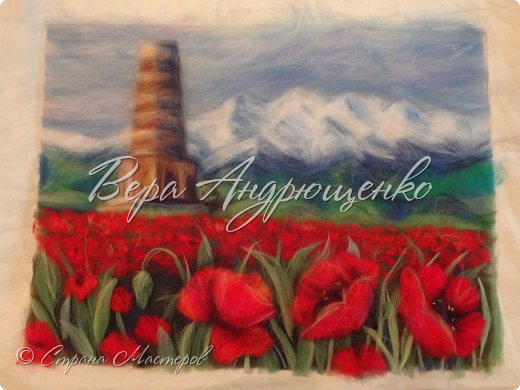 Башня Бурана - памятник архитектуры. Находится в Кыргызстане близ г.Токмак, у подножья гор. Весной там такая красотища!  фото 4