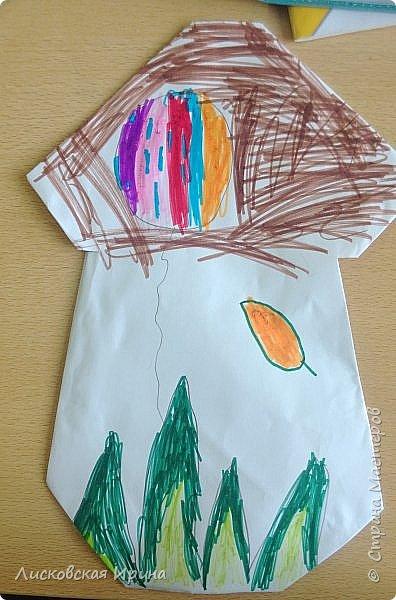 Благодаря работам Натальи http://stranamasterov.ru/node/1048597?c=favorite, мои маленькие первоклассники сделали грибочки.  фото 3