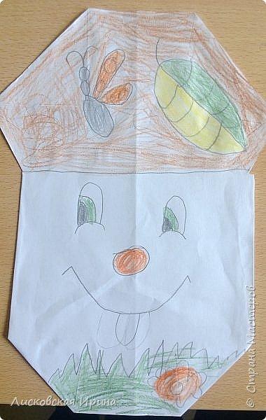 Благодаря работам Натальи http://stranamasterov.ru/node/1048597?c=favorite, мои маленькие первоклассники сделали грибочки.  фото 9