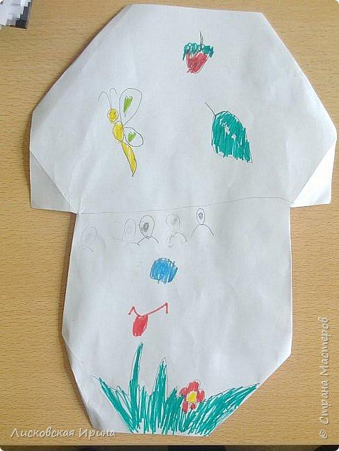Благодаря работам Натальи http://stranamasterov.ru/node/1048597?c=favorite, мои маленькие первоклассники сделали грибочки.  фото 10