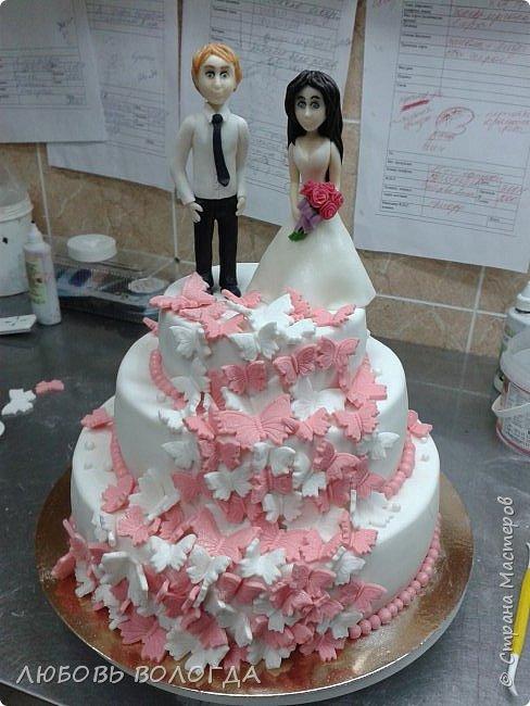 Работы моей дочи. Торты свадебные фото 8