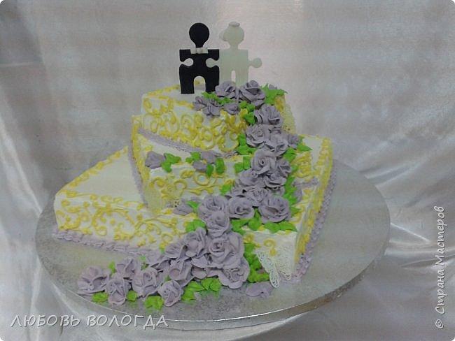 Работы моей дочи. Торты свадебные фото 7