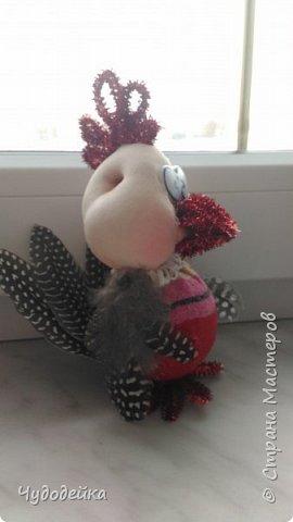 Вот такой петушок у нас получился с дочкой по мк Елены Лаврентьевой. Петушок сделан на конкурс елочных игрушек. Кисточку к гребешки привязали после фотографирования. фото 5