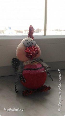 Вот такой петушок у нас получился с дочкой по мк Елены Лаврентьевой. Петушок сделан на конкурс елочных игрушек. Кисточку к гребешки привязали после фотографирования. фото 2