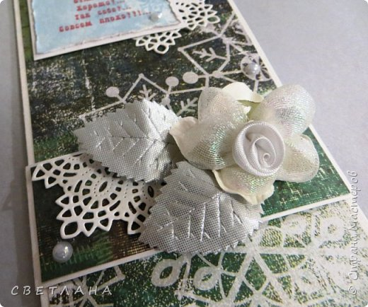 Конверты  для  денег  к  НГ.    Использовала  -  скрапбумагу,  скрапукрашения,  распечатки на  принтере,  дизайнерский  картон. фото 4