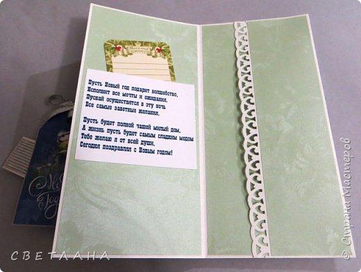 Конверты  для  денег  к  НГ.    Использовала  -  скрапбумагу,  скрапукрашения,  распечатки на  принтере,  дизайнерский  картон. фото 10