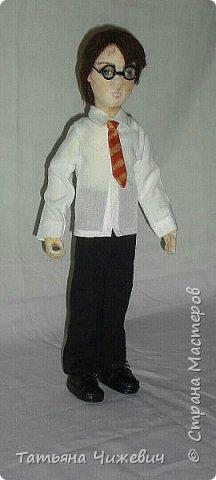 Высота куклы 40 см, ручки и ножки подвижные. В руках проволока,поэтому Гарри может держать палочку.Одежда снимается фото 6