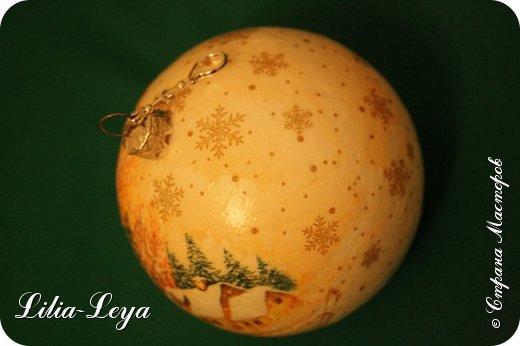Этот новогодний шарик появился благодаря Натальи Борс  http://stranamasterov.ru/user/320442                                             и подсказанному ею   МК  Viktori   http://stranamasterov.ru/node/879537 фото 10
