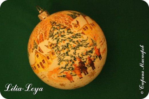 Этот новогодний шарик появился благодаря Натальи Борс  http://stranamasterov.ru/user/320442                                             и подсказанному ею   МК  Viktori   http://stranamasterov.ru/node/879537 фото 11