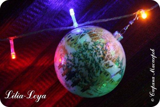 Этот новогодний шарик появился благодаря Натальи Борс  http://stranamasterov.ru/user/320442                                             и подсказанному ею   МК  Viktori   http://stranamasterov.ru/node/879537 фото 12