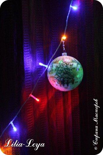 Этот новогодний шарик появился благодаря Натальи Борс  http://stranamasterov.ru/user/320442                                             и подсказанному ею   МК  Viktori   http://stranamasterov.ru/node/879537 фото 2