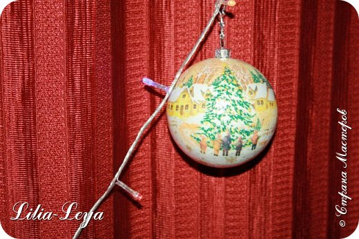 Этот новогодний шарик появился благодаря Натальи Борс  http://stranamasterov.ru/user/320442                                             и подсказанному ею   МК  Viktori   http://stranamasterov.ru/node/879537 фото 3