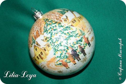 Этот новогодний шарик появился благодаря Натальи Борс  http://stranamasterov.ru/user/320442                                             и подсказанному ею   МК  Viktori   http://stranamasterov.ru/node/879537 фото 5