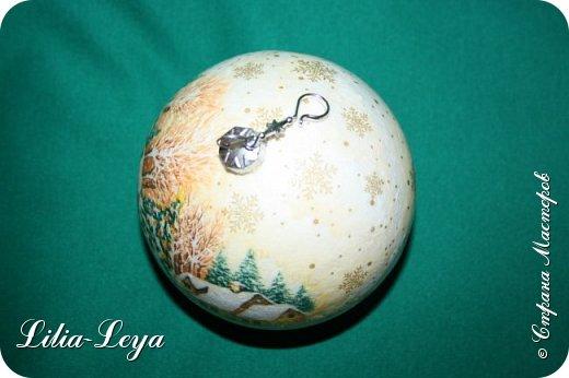 Этот новогодний шарик появился благодаря Натальи Борс  http://stranamasterov.ru/user/320442                                             и подсказанному ею   МК  Viktori   http://stranamasterov.ru/node/879537 фото 8