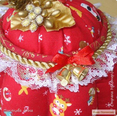 Текстильные чайники из натуральных тканей. Замечательный оригинальный подарочек к Новому Году. Высота 15см. фото 4