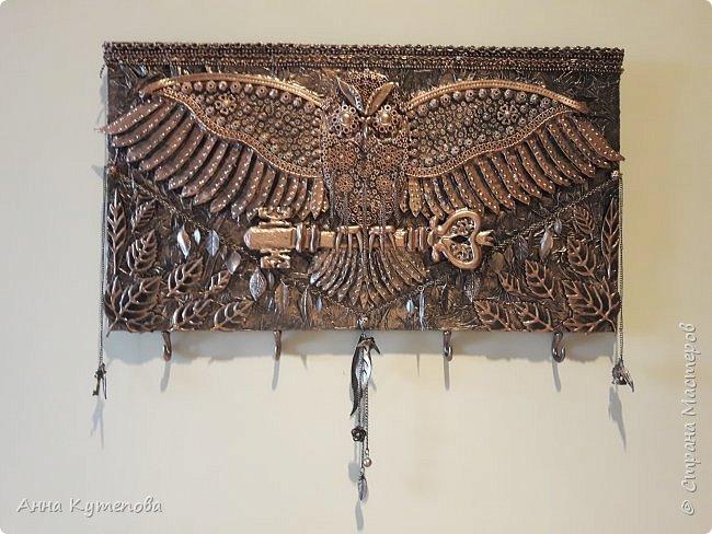 """Ключница: """"Летящая сова"""". Сделана по примеру http://stranamasterov.ru/node/847946?c=favorite  фото 1"""