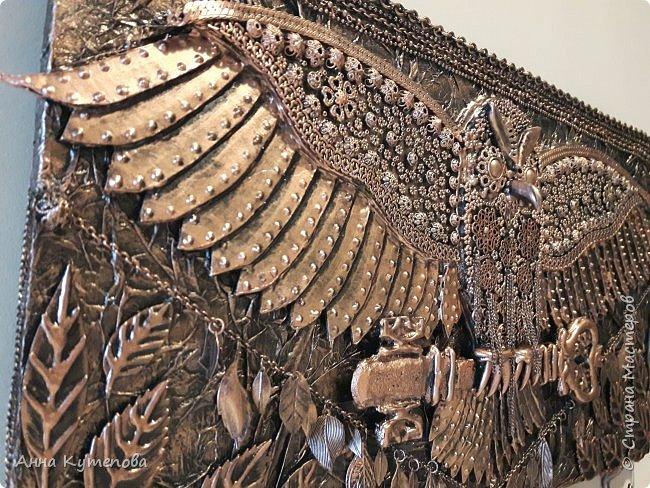 """Ключница: """"Летящая сова"""". Сделана по примеру http://stranamasterov.ru/node/847946?c=favorite  фото 3"""