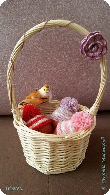 Шапочки для пасхальных яиц спицами. фото 1
