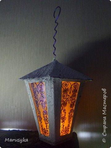 Подсвечник - фонарик. Картон покрашен и покрыт средством - медиум кракелюр, и лаком для ногтей с блестками. фото 1