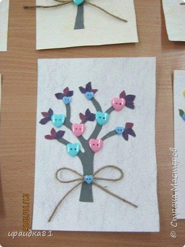 У всех девочек получились замечательные деревья  фото 3