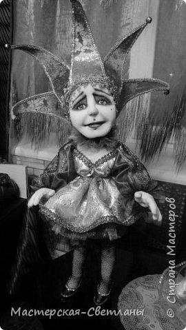 В предверии нового года и в предкушении праздника родилась у меня такая милая барышня Коломбина. Девушка готова к переезду на ПМЖ в новый дом.  фото 3