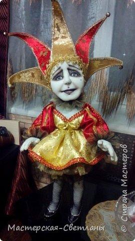 В предверии нового года и в предкушении праздника родилась у меня такая милая барышня Коломбина. Девушка готова к переезду на ПМЖ в новый дом.  фото 4