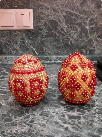 Яйца из бисера.  фото 4