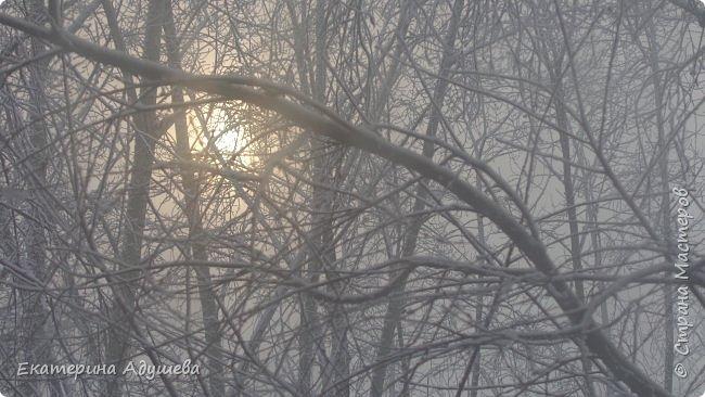 Урал попал в циклон ,морозы немного спали . Пейзажи в центе города сказочные, утром было -23. Не удержалась, чтобы не взять фотоаппарат в руки и не запечатлеть красоту за окном и солнышко в дымке морозной занавеси. Сразу в памяти сплывает добрая сказка  из детства (Морозко-1964 года)   фото 8