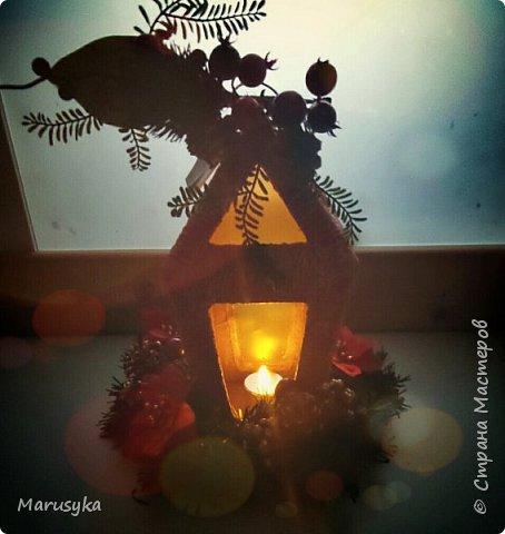Новогодний фонарь.  фото 1