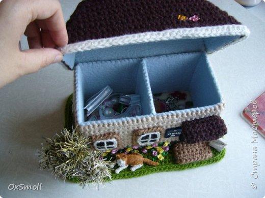 Домик шкатулка, все крыши в домиках открываются. фото 2