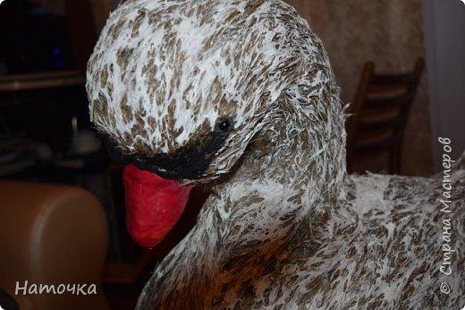 Вот такого лебедя, а может гуся, сделала для дочки в шк. Конечно она тоже помогала- занималась покраской и разделением метелок камыша. фото 5