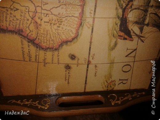 Пропросили меня переделать столик для завтрака из бамбука Вот что у меня получилось.   фото 4