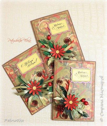 Добрый день! А вот и несколько первых новогодних открыточек! Они все уже разлетелись в разные магазинчики и будут ждать своих счастливых покупателей.  фото 12