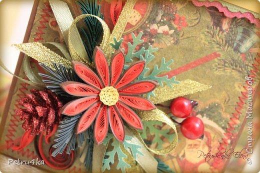 Добрый день! А вот и несколько первых новогодних открыточек! Они все уже разлетелись в разные магазинчики и будут ждать своих счастливых покупателей.  фото 11