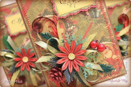 Добрый день! А вот и несколько первых новогодних открыточек! Они все уже разлетелись в разные магазинчики и будут ждать своих счастливых покупателей.  фото 10