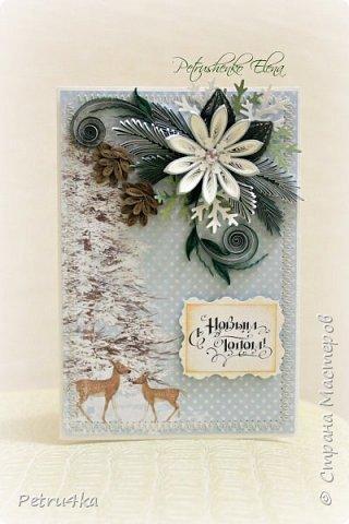 Добрый день! А вот и несколько первых новогодних открыточек! Они все уже разлетелись в разные магазинчики и будут ждать своих счастливых покупателей.  фото 3