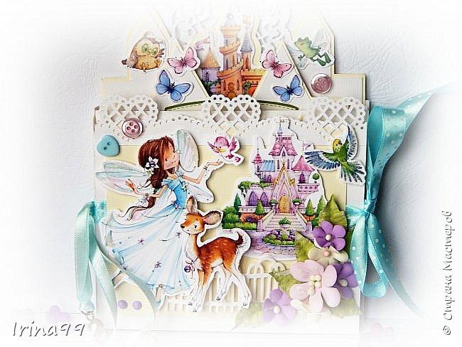 Здравствуйте , мои   дорогие!  Моей Софийке 17 ноября исполнилось 6 лет. Решила  сделать открыточку. Получился такой вот замок для принцессы, внутри с  кармашками для всякой  мелочи ( ну а мы туда  денежку положили!) Восторга было столько...Так приятно! фото 2