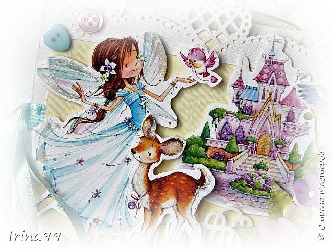 Здравствуйте , мои   дорогие!  Моей Софийке 17 ноября исполнилось 6 лет. Решила  сделать открыточку. Получился такой вот замок для принцессы, внутри с  кармашками для всякой  мелочи ( ну а мы туда  денежку положили!) Восторга было столько...Так приятно! фото 3