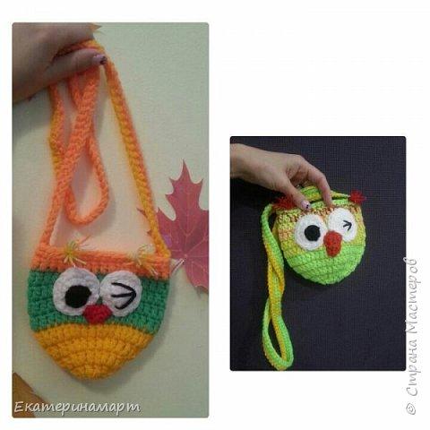 уже делала подобные сумочки для дочи и ее подружки =))) решила повторить, но эти уже из остаточков пряжи =) фото 1