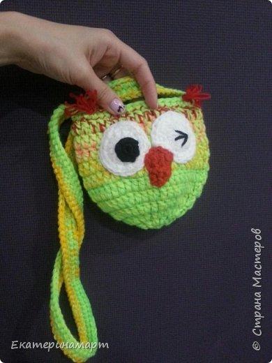уже делала подобные сумочки для дочи и ее подружки =))) решила повторить, но эти уже из остаточков пряжи =) фото 2