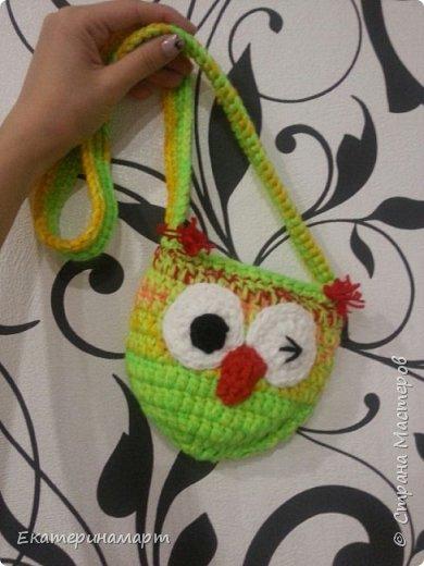 уже делала подобные сумочки для дочи и ее подружки =))) решила повторить, но эти уже из остаточков пряжи =) фото 3