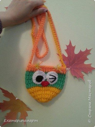 уже делала подобные сумочки для дочи и ее подружки =))) решила повторить, но эти уже из остаточков пряжи =) фото 4