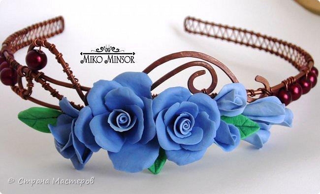 """Браслет с розами в цветовой гамме """"Розовый крем и шоколад"""". фото 4"""