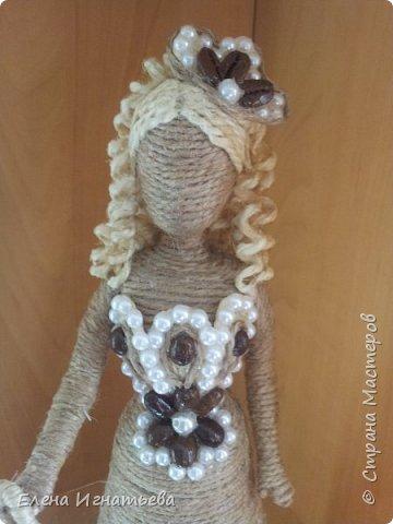 Здравствуйте! Вот испеклась очередная дамочка!)) Сто лет прошло,как я впервые сделала шпагатную куклу (вот тут МК http://stranamasterov.ru/node/743359? ), влюбленность в них поселилась навек, потому что с тех пор не могу заставить себя выкинуть сломанную барби - ручки так и тянуться)))  фото 6